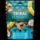 Tribal - Kokos, banana in arašidovo maslo naravni priboljški za pse 125g