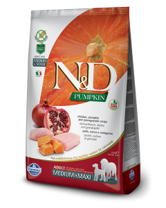 Farmina N&D - PUMPKIN Chicken & Pomegranate Adult Medium&Maxi