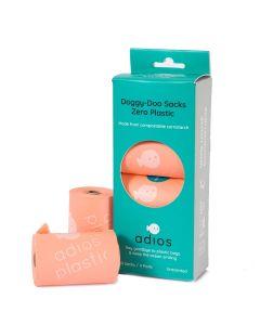 Adios Plastic – Biorazgradljive vrečke za iztrebke Pink (4 rolice)