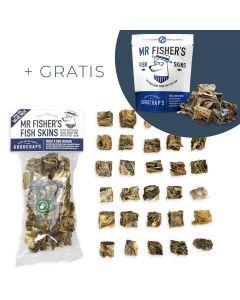 Goodchap's - Mr Fisher's priboljški iz ribje kože (večje pakiranje) + GRATIS Mr Mr Fisher's priboljški (manjše pakiranje)