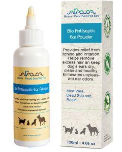 Arava - Bio Enzymatic Ear Powder puder za nego mačjih in pasjih ušes (in za lažje odstranjevanje dlake) 120ml