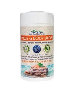 Arava - Pet & Paws čistilni robčki za nego tačk in telesa