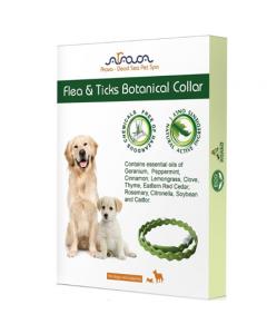 Arava - Botanical Flea & Ticks ovratnica z eteričnim oljem citronele, rožmarina in timijana za pse in pasje mladiče