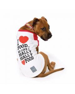 FuzzYard - Majica T-Shirt I Love Food (velikost 1)