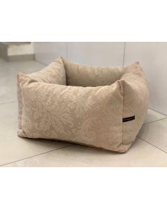 Loving Paw - Udobna posteljica KAI za pse in mačke v krem barvi z vzorcem