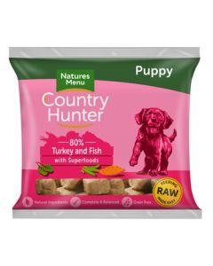 Natures Menu - Country Hunter Nuggets PUPPY puran in bela riba 1kg