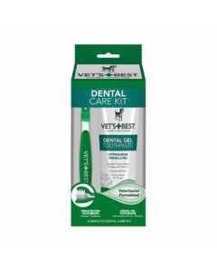 Vet's Best - Dental Care set ENCIMSKI gel in zobna ščetka