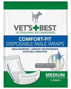 Vet's Best - Plenice za enkratno uporabo za samce Comfort Fit