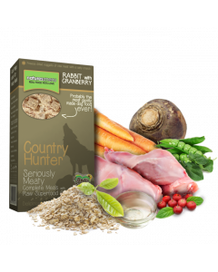 Natures Menu - Country Hunter hrustljavčki kunec z brusnicami 700g