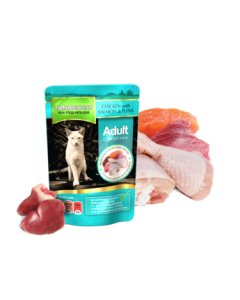 Natures Menu - Mesna vrečka losos in tuna 100g
