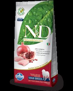 Farmina N&D - GRAIN FREE Chicken Pomegranate Adult Maxi 12 kg