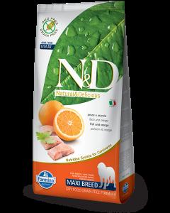 Farmina N&D - GRAIN FREE Codfish & Orange Adult Maxi 12kg