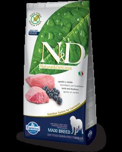 Farmina N&D - GRAIN FREE Lamb & Blueberry Adult Maxi 12 kg