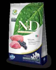 Farmina N&D - GRAIN FREE Lamb & Blueberry Adult Medium