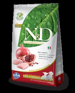 Farmina N&D - GRAIN FREE Chicken Pomegranate Puppy Small&Medium