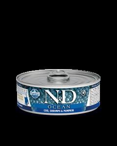 Farmina N&D - Ocean Codfish & Shrimp konzerva za mačje mladičke 80g