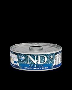 Farmina N&D - Ocean Sea Bass & Sardine konzerva za mačke 80g