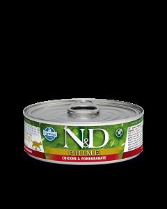 Farmina N&D - Prime Chicken & Pomegranate konzerva za mačke 80g