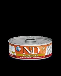 Farmina N&D - Pumpkin Chicken & Pomegranate konzerva za mačke 80g