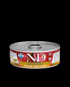 Farmina N&D - Quinoa Quail & Coconut konzerva za mačke 80g
