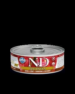 Farmina N&D - Quinoa Venison & Coconut konzerva za mačke 80g