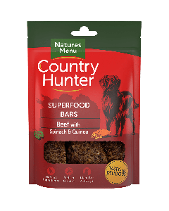 Natures Menu - Country Hunter Superfood Bar priboljški govedina z špinačo in kvinojo 100g