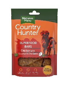 Natures Menu - Country Hunter Superfood Bar priboljški piščanec s kokosom in chia semeni 100g