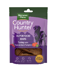Natures Menu - Country Hunter Superfood Bar priboljški puran z brusnicami 100g