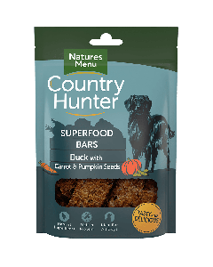 Natures Menu - Country Hunter Superfood Bar priboljški raca s korenjem in bučnimi semeni 100g
