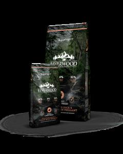 Riverwood - Puran in račka s fazanom za pse večjih pasem
