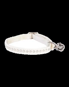 Dingo - Mačja ovratnica Glamour WHITE