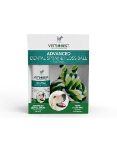 Vet's Best - Advanced Dental pršilo 120ml + zobna nitka (igrača)