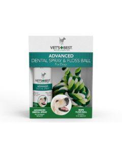 Vet's Best - Advanced Dental pršilo 120ml + zobna nitka (igrača)